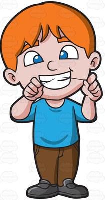 dental floss Cartoon Clipart.