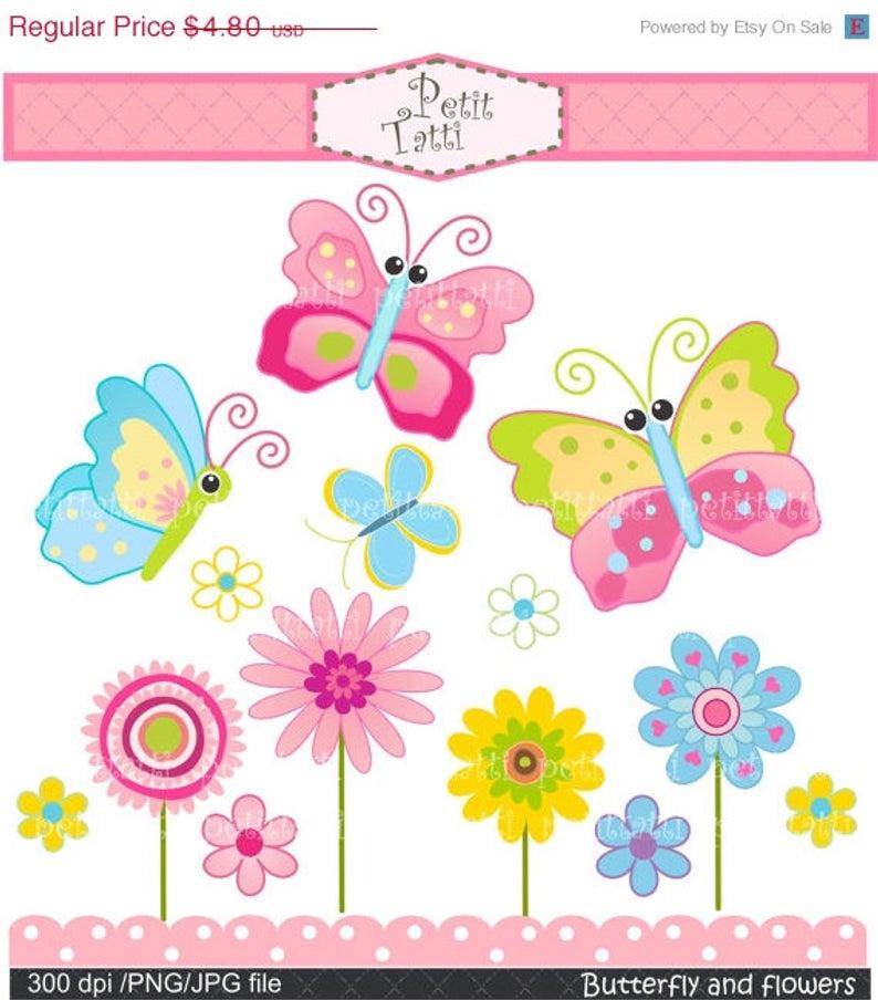 ON SALE cute Flower Clipart.