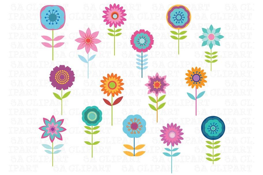 Cute Flower Clipart.