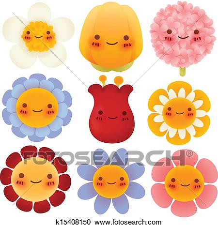 Collection of Cute Flowers Clipart.