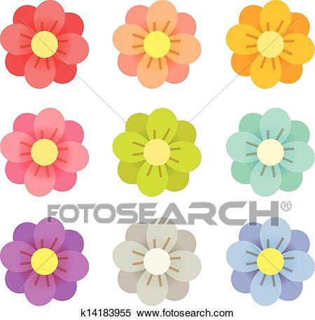 Cute Flowers Clipart.