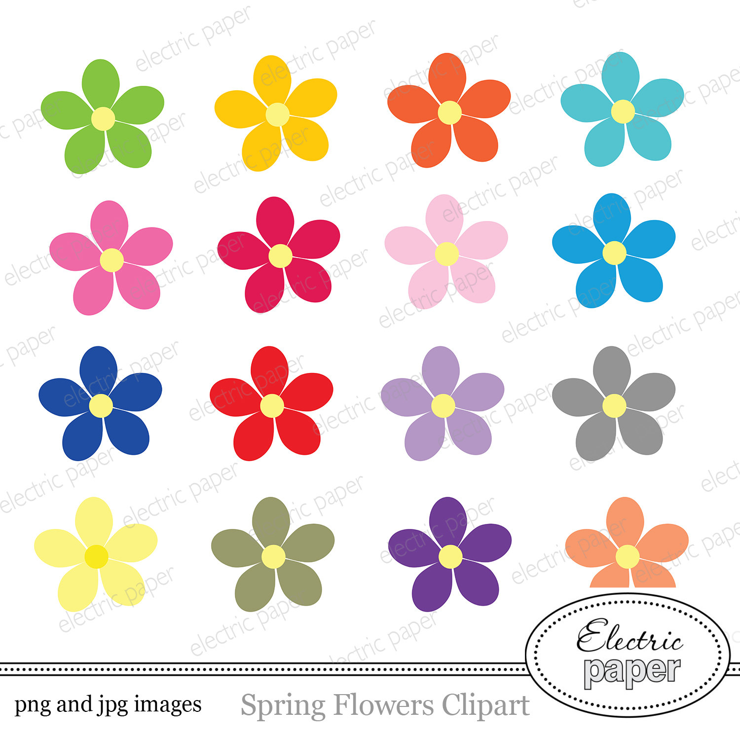 Cute flowers clipart 2 » Clipart Station.