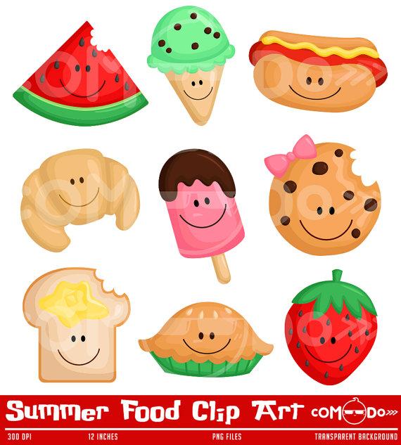 50%OFF Summer Food Clipart Cute Clipart Food Clipart Fun.