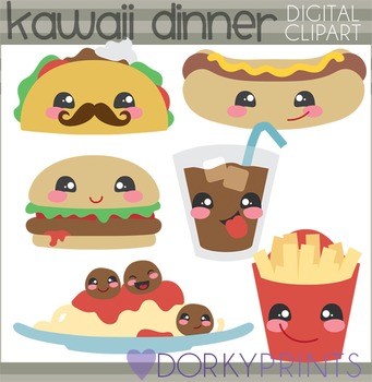 Cute Dinner Food Clipart.