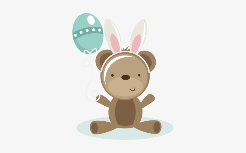 Bear With Bunny Ears Svg Scrapbook File Bear Svg File.
