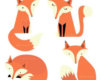 Cute Baby Fox Clipart.