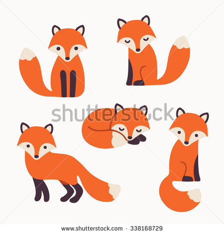 cute fox face clipart #9