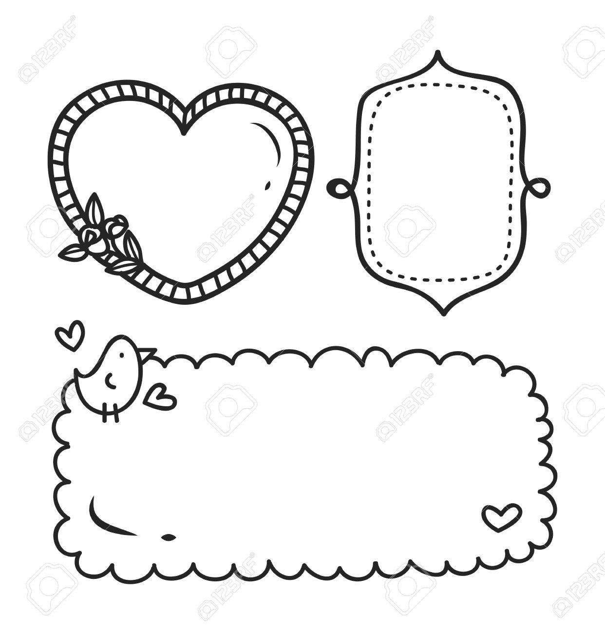 Cute frame in doodle style..