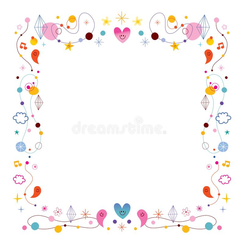 Cute Frame Stock Illustrations.