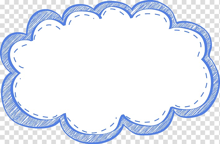 White and blue balloon message , frame Cloud , Cute Frame.