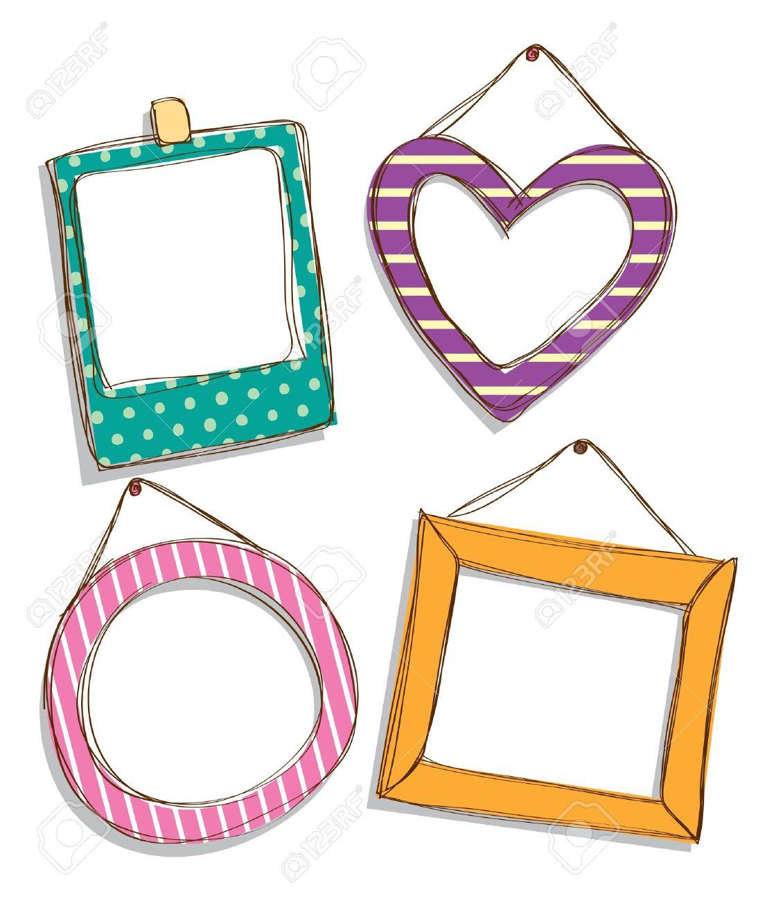 set of cute frame doodle.