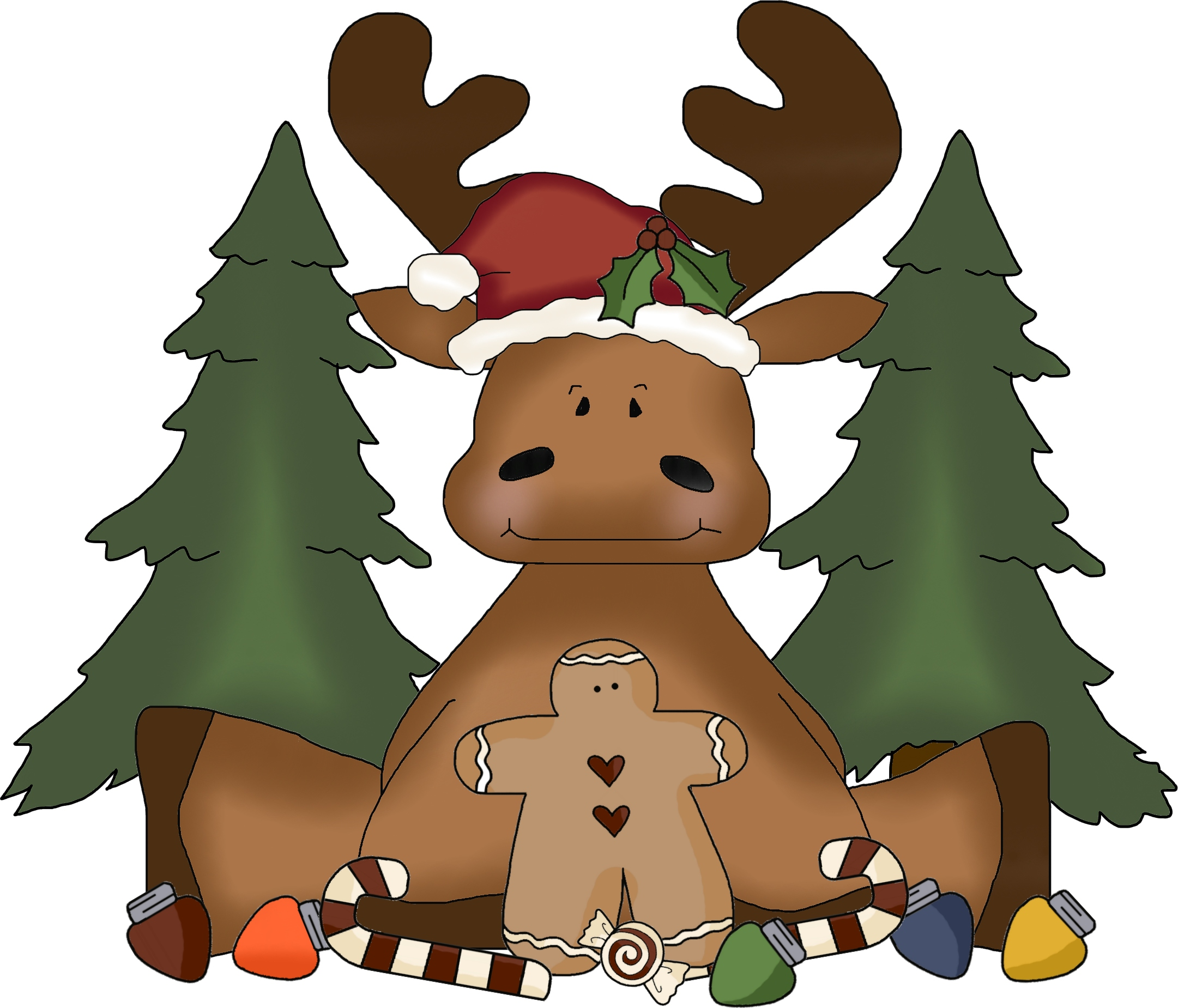 Free Christmas Moose Cliparts, Download Free Clip Art, Free.