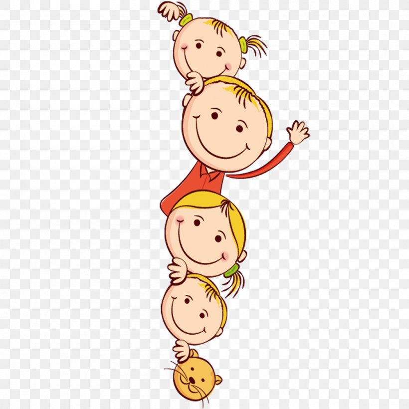 Child Friendship Day Drawing Clip Art, PNG, 1000x1000px.