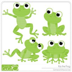 cute frog clipart free #11