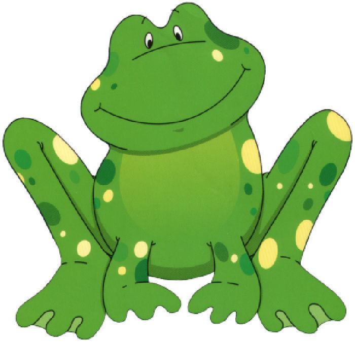 Free Cute Frog Clipart Image.