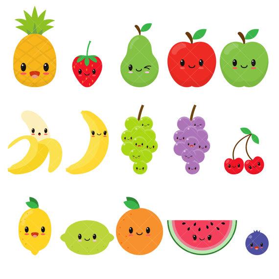 Cute Fruit Clipart 101 Clip Art.