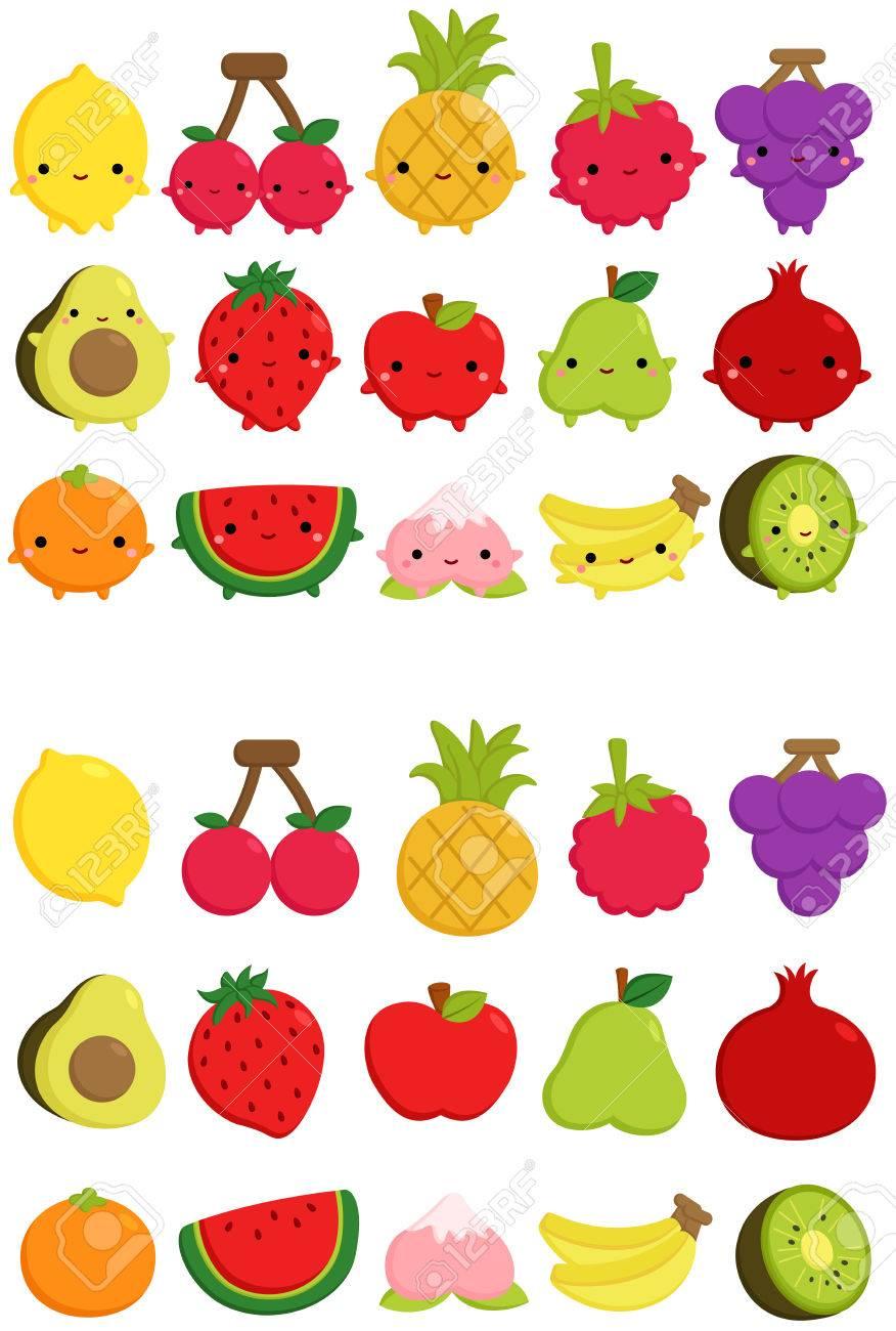 Cute Fruit Icon.