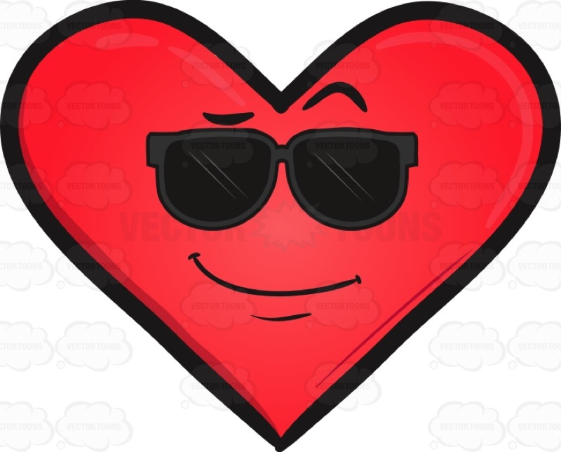 Cool Looking Heart Emoji.