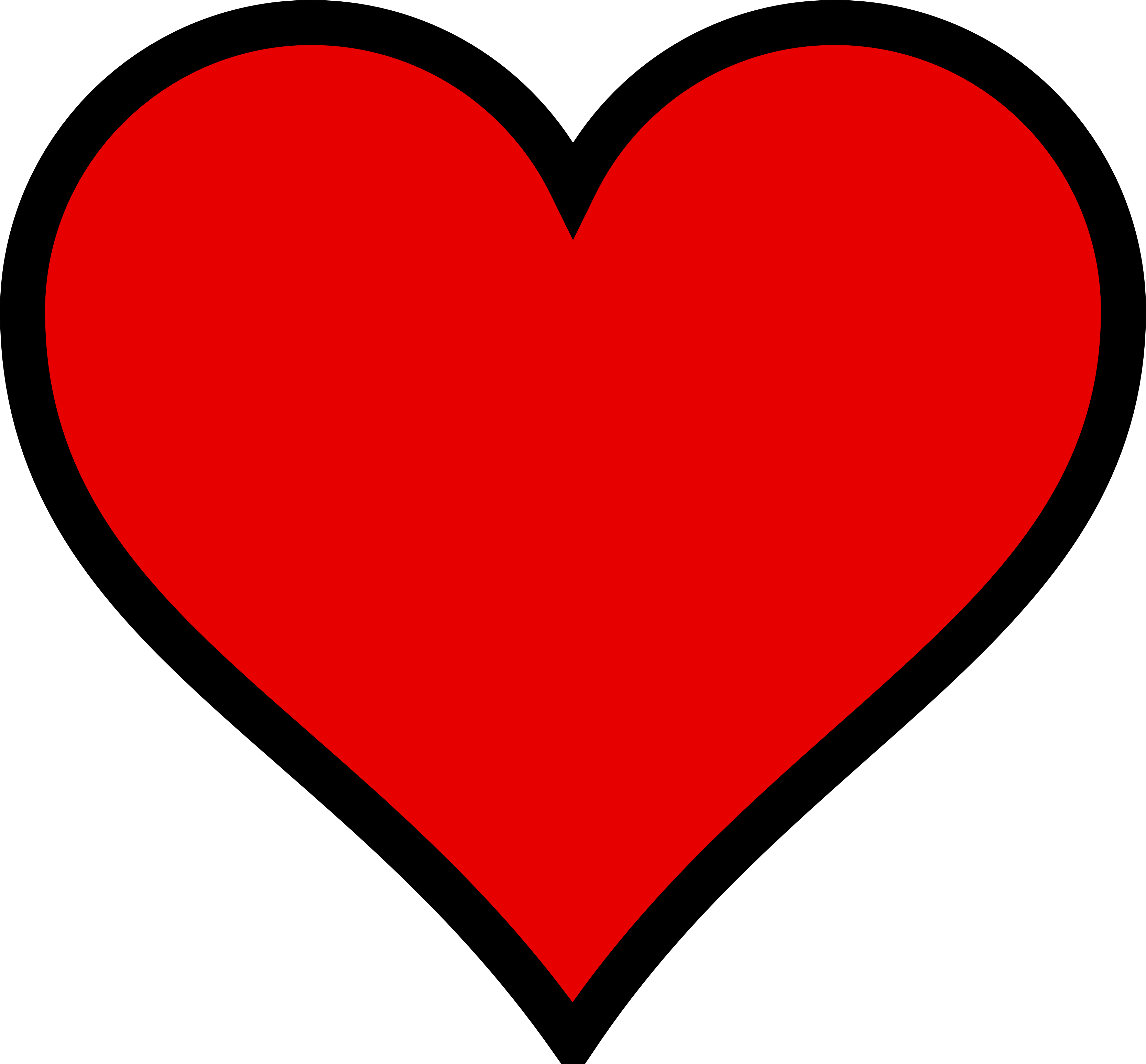 Cute Funky Shaped Heart Clipart.
