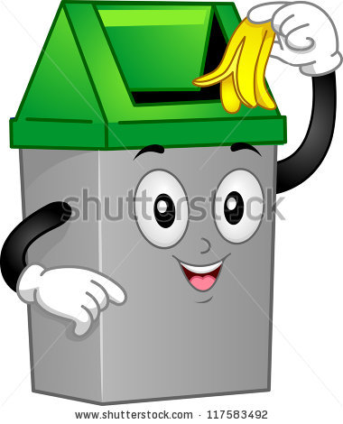 Trash Cans Cartoon Stock Images, Royalty.