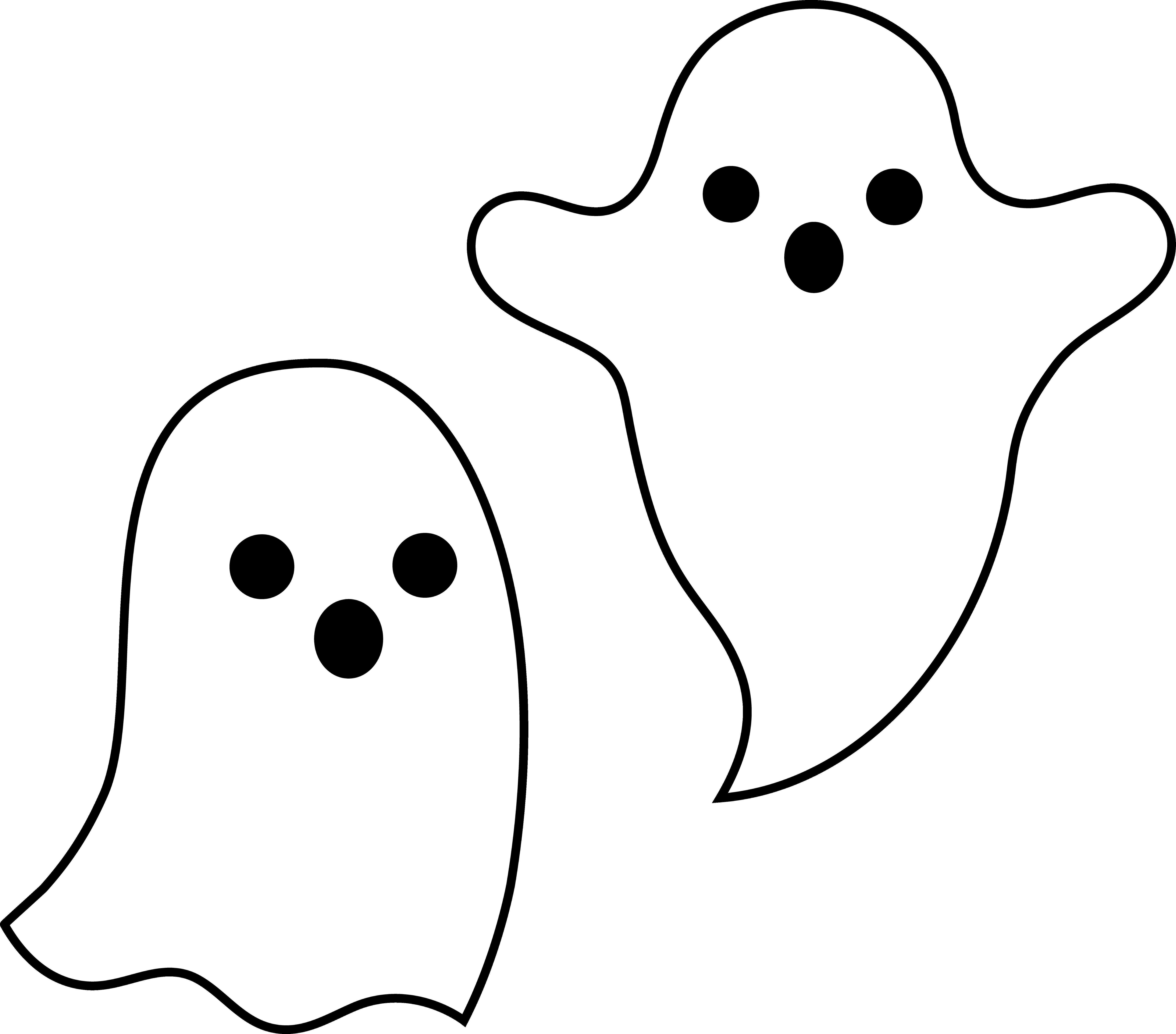 Cute Ghost Clipart #1.