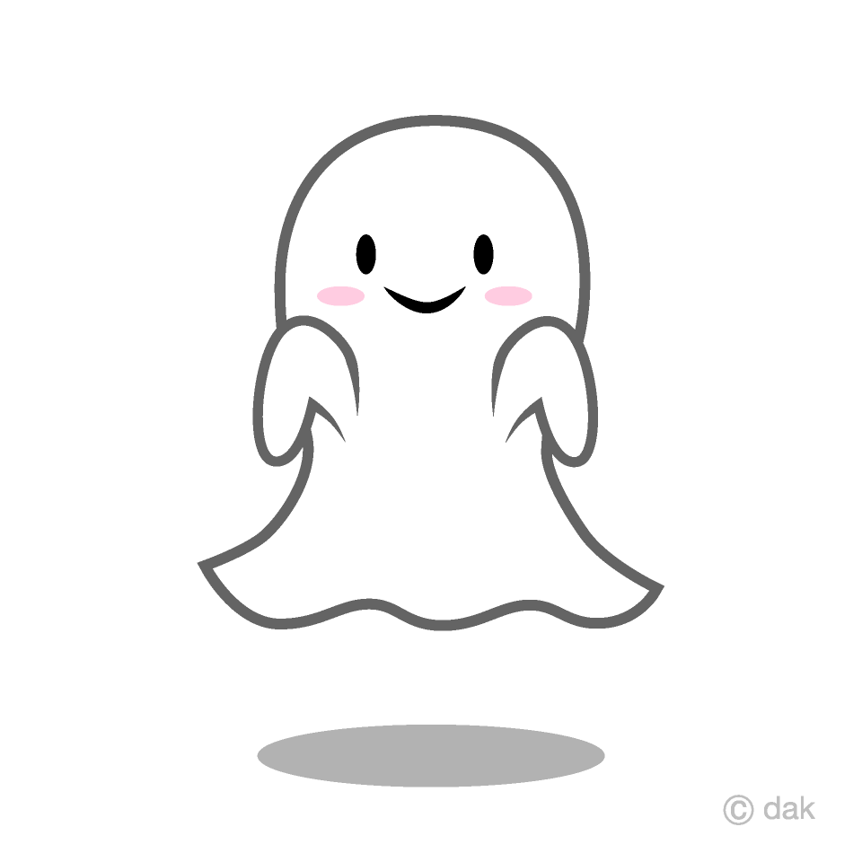 Cute Ghost Clipart Free Picture|Illustoon.