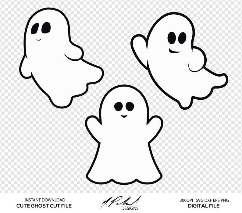 Cute Ghost Digital Cut Files.