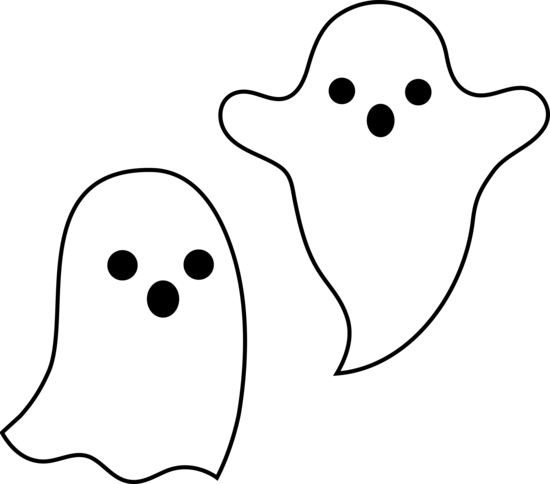 Cute Ghost Cliparts.