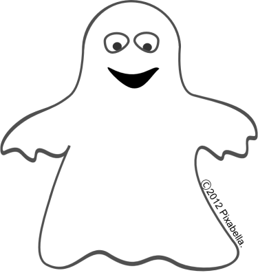 Cute ghost clip art.