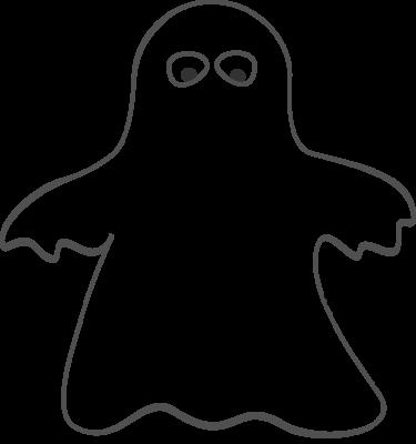 Cute ghost clip art.