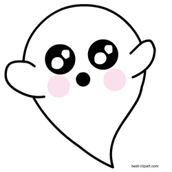 Super cute ghost clip art free.