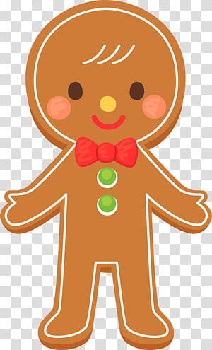 Brown Gingerbread illustration, Gingerbread man Cookie Gingerbread.