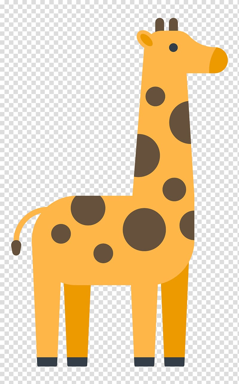 Northern giraffe Icon, Cute giraffe transparent background PNG.