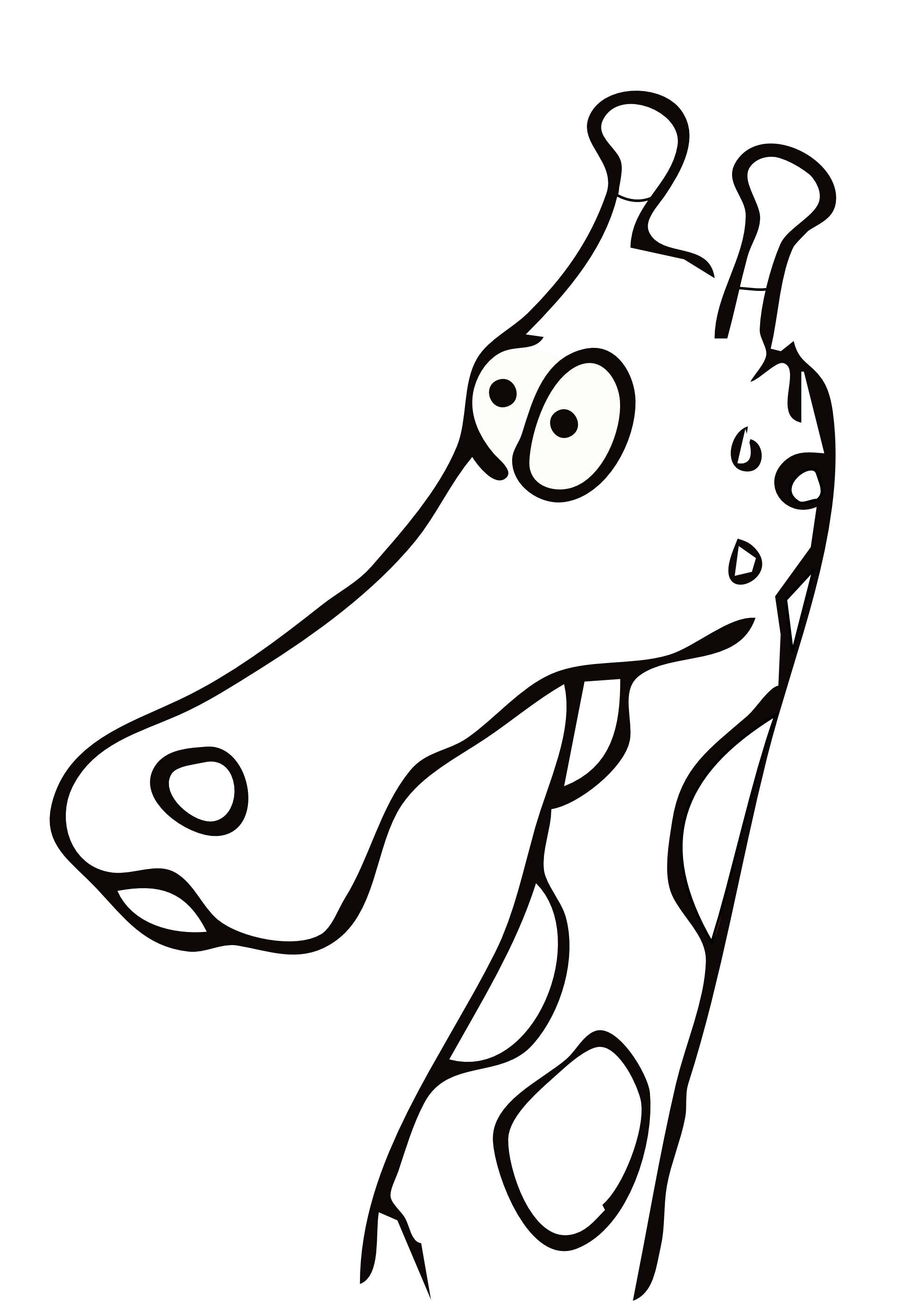 Cute Giraffe Clipart Black And White 20 Free Cliparts
