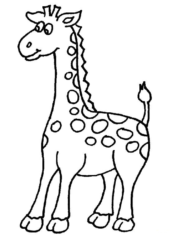 Clipart Giraffe Black And White.