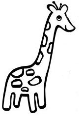 cute giraffe outline.