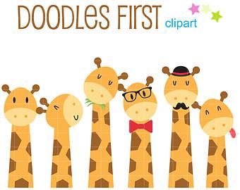 Cute giraffe clipart.