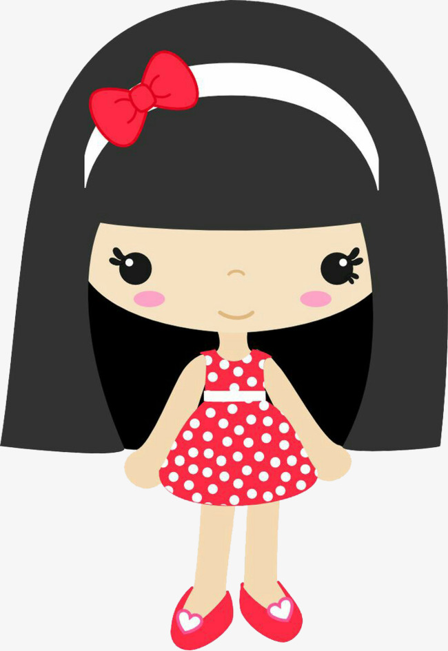 Cute Girl Clipart Little Black Hair PNG Image And Creative Qualified.