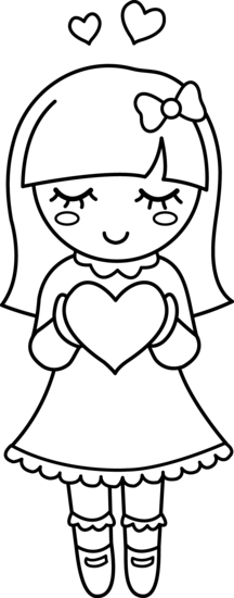cute girl clipart black and whitw 20 free Cliparts ...