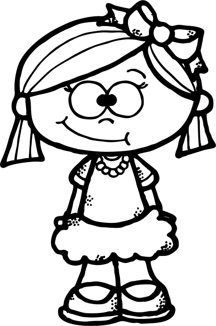Simple Cute Girl Clipart.