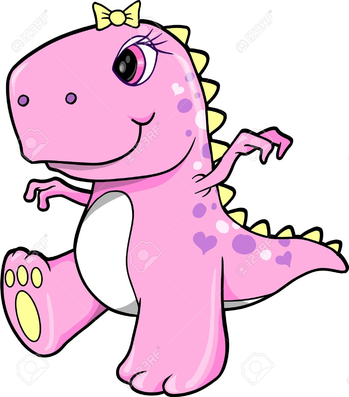 Cute Pink Girl Dinosaur T.