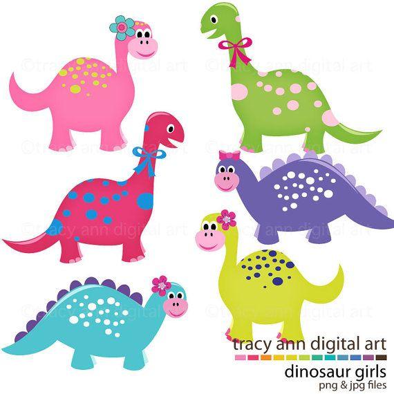 Cute Dinosaur Clip Art Girl Dinosaurs Clipart commercial and.