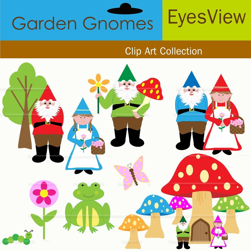 Lawn Gnome Clipart.