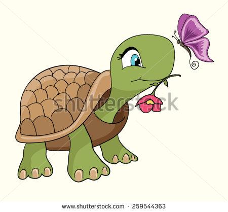 Cute turtle cartoon/Cartoon smiling green turtle character/Cartoon.