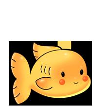 Cute goldfish baby.