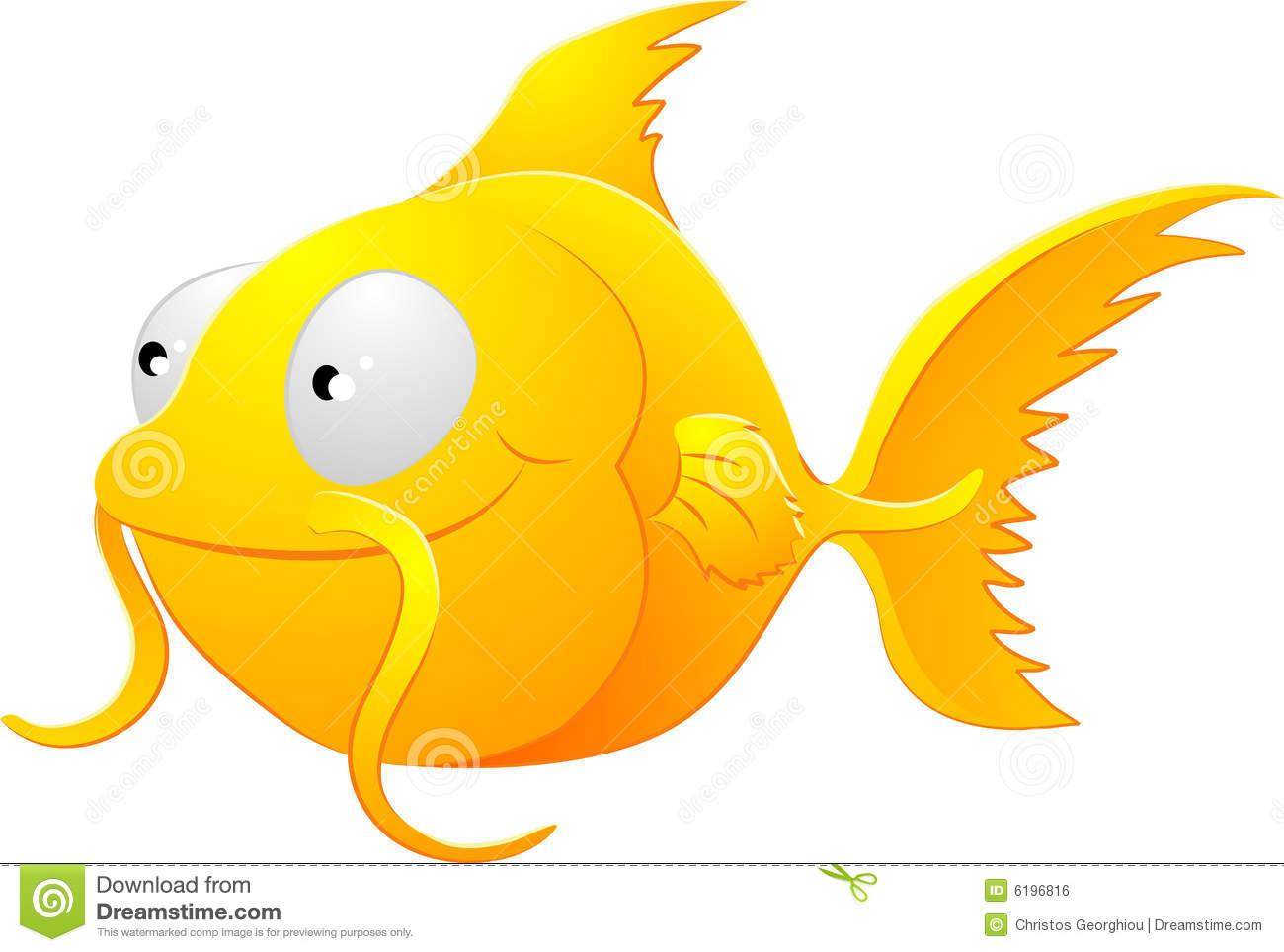 Goldfish Clipart Illustration Stock Vector.