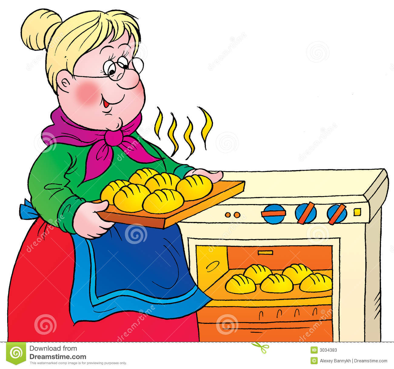Grandma Cooking Clipart.