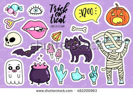 Cute halloween badges clipartClipartFox.