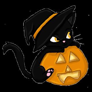 Cute Halloween Cat Clipart.