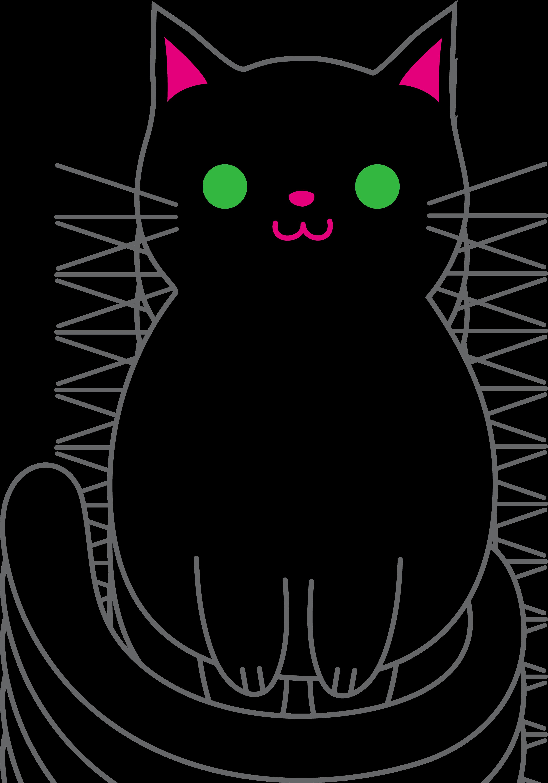 Halloween Black Cat Clipart.